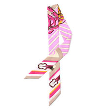 2 scarves lady's twilly ribbon tied the bag handle scarf S011-S019