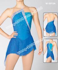 Marvellous Ice Skating Figure skating Dress Gymnastics Dance Costume Blue
