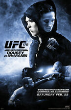 UFC Rousey vs McMann Womens Bantamweight Live Fighting Sports Poster 11x17