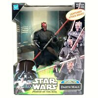 Star Wars Power of the Jedi Mega Action Darth Maul POTJ Lightsaber Attack Hasbro