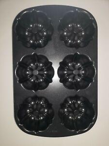 Nordic Ware 6 Capacity Mini Muffin Bundt Pan Heavy Cast Aluminum Non Stick