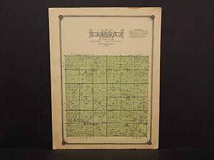 Iowa Plymouth County Map Johnson Township  1914  W10#67