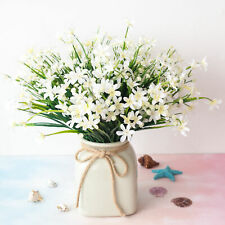 4 pcs artificial fake flower white small orchid home decoration outdoor floral