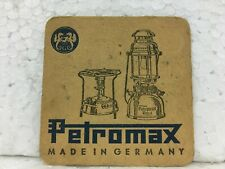 Old Vintage Very Rare Papers Double Side  Advertisement of Petromax from Germany