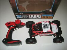 Click N Play Remote Control Car 4WD Off Road Rock Crawler Vehicle 2.4 GHz, Red