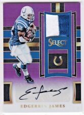 Edgerrin James Indianapolis Colts 2017 Select Prizms Jersey Patch AUTO 15/15 1/1