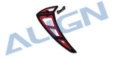 Align T-Rex 700/800E PRO Vertical Stabilizer-Black/Red  H80T014XAT