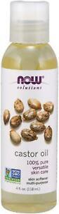 NOW Solutions, Castor Oil, 100% Pure Versatile Skin Care, Multi-Purpose Skin Sof