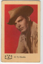 1960s Swedish Film Star Card Bilder A #41 US Western Bronco Actor Ty Hardin