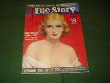 1937 TRUE STORY MOVIE MAGAZINE WITH A GORGEOUS MOVIE STAR COVER