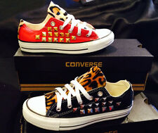Leopard Print Studded Converse Chuck Taylor All Star Shoes