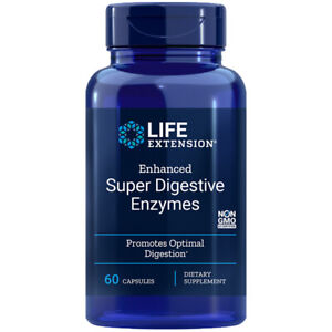 Enhanced Super Digestive Enzymes 60Caps Life Extension Protease/Amalyse