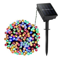 200 LED Solar String Fairy Light Outdoor Party Xmas Tree Waterproof AU Multicoloured