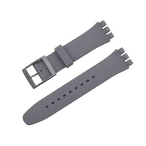 Colorful Jelly Silicone Strap for Swatch Watch 12 16 17 19 20mm Replacement Band