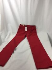 "ABERCROMBIE & FITCH ""SKINNY"" BUTTON FLY JEANS 30X32 Red New"