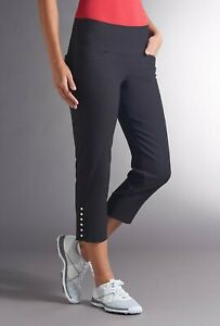 Swing Control Masters Snap Crop Navy Blue Golf Pants Ladies size 6 NEW M3003