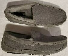 UGG Australia Men's Size 9 Ascot Gray Wool Blend Slippers S/N 3233 Brand New WOB