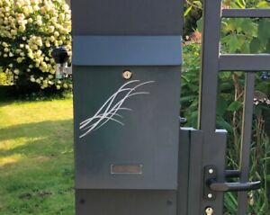 mailbox anthracite italian style Wall Mounted  Post box vintag letter