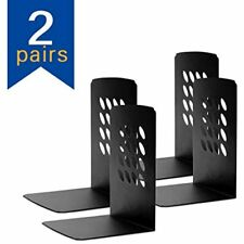 Bookends, Holder Ends, Decorative Metal For Shelves, Black, 5.7x5.2x3.93 Inch,