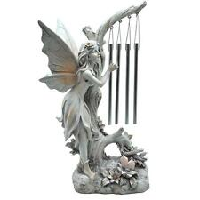 Solar Angel Garden Statue Light With Chimes memorial sculpture yard decor lawn