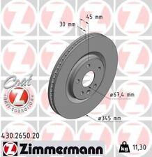 2x ZIMMERMANN Bremsscheibe Bremsscheiben Satz Bremsen COAT Z Vorne 430.2650.20