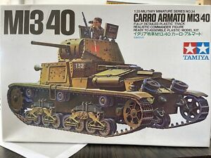 ITALIAN WW II MI3/40 CARRO ARMATO TANK MODEL KIT 1/35 MILITARY NO. 34 No Decals