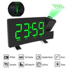 Radiowecker LED Wecker Digital Alarmwecker Funk Uhr Dimmbar Tischuhr USB