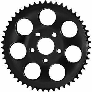 Flat Rear Wheel Repl Chain Sprocket Black 48-tooth 1986-99 Harley Big Twin & XL