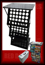 PORTABLE A3 A4 BROCHURE/CATALOGUE STAND/RACK/HOLDER/DISPLAY CONCERTINA + TABLE