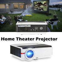 8000LUMENS LCD LED Projektor Beamer Cinema Heimkino HD 1080p USB*2 AV HDMI*2 VGA