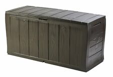Outdoor Garden Storage Box Patio Chest Bench Seat Plastic Utility Shed Furniture