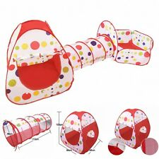 Kids Play Tent Play House Tents Tunnel Ball Pit Toy Gifts 3 In 1 Indoor Out door
