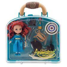 "Disney Store Animators Collection Merida Brave Mini Doll Playset Set 5"" NEW"