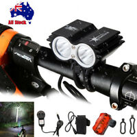 SolarStorm 10000Lm 2xXML T6 LED Fornt Head Bicycle Bike Light+Rear Light+Battery