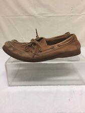 Levis Mens Brown Leather Boat Deck Shoes Sz 10 M