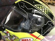 BELL STAR IOM TT ISLE OF MAN RACING MOTORCYCLE HELMET - LARGE + Race VIsor