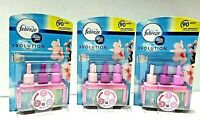 3 x FEBREZE 3VOLUTION AIR FRESHENER ELECTRICAL PLUG IN REFILL RED CHERRY BLOSSOM
