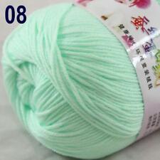 Sale New 1Ball x 50g Cashmere Silk Wool Hand Knit Wrap Shawls Crochet Yarn 08