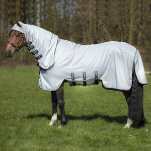 Horseware Rambo Hoody (inkl. Fliegenmaske) - Grey/Beige - Ekzemerdecke