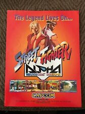 1995 CAPCOM. STREET FIGHTER ALPHA WARRIORS DREAMS VIDEO ARCADE GAME FLYER