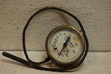 "Vintage Marsh Instrument Co Brass Gauge 2-1/8"" temperature beveled glass steam"
