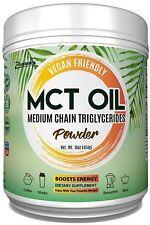 Premium MCT Oil Powder 1 LB Non-GMO Gluten Free Vegan Friendly Keto Friendly Fat