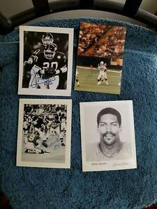 VINTAGE NFL LOT (4) SIGNED PHOTOS JAN STENERUD, MARK GASTINEAU GROBEE1957