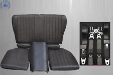 Rückbank Notsitz Kindersitz für Mercedes SL 107,klappbar,schwarz+Sicherheitsgurt