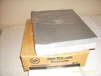 NOS Cadillac Eldorado Brochure 2002
