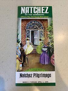 Natchez Pilgrimage Mississippi Brochure 1979 Old South Home Tour Travel Vintage