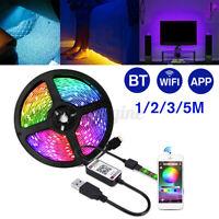 5V USB Power LED Strip Lights 5050 RGB TV Backlight bluetooth APP Remote  r z Д