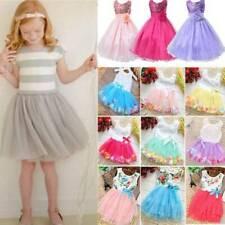 Kids Baby Girls Child Party Tutu Dress Wedding Party Birthday Princess Dress New