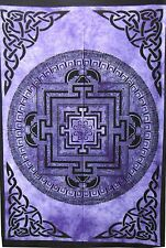 Purple Color Cotton Handmade Tapestry Poster Vastu Yantra Wall Hanging Hippie