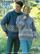 """UNISEX  SWEATER PATTERN FOR KNITTING WORSTED SZ.32-44""""ENGL&FRENCH"""